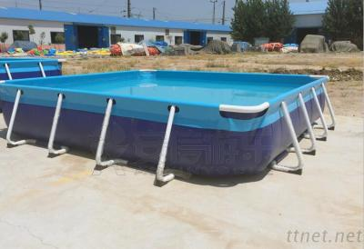 Portable inflatable water park used metal frame swimming pool for sale