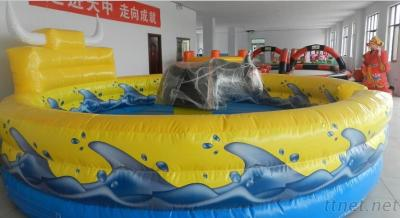 Wholesale price kids riding toys mechanical rodeo bull with Inflatable mattress