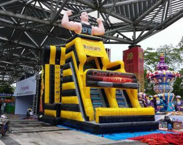 Multiplay adult and kids Inflatable sports games basketball dart jump and climb