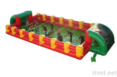 Newest design cheap outdoor PVC material inflatable human football table foosball field