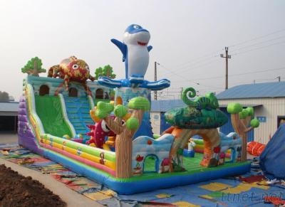Widely used commercial cheap popular chameleon design inflatable bouncer jumping castle