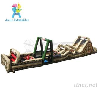 Outdoor Boot Camp 85 Foot Inflatable Military Obstacle Course Challenges
