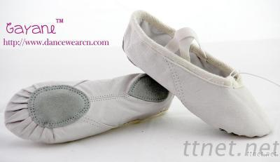 Leather Split Sole Ballet Shoe