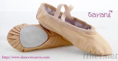 Pink Leather Split Sole Ballet Shoe