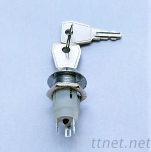 Key Switch Lock, Electric Switch Lock, 16mm Key Switches-K16-06-1(3 Pins)