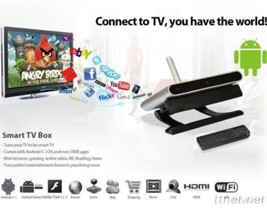 Daul Core Bluetooth Android Smart TV Box With Skype Camera