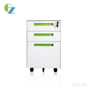Filing Steel Mobile Cabinet With 3 Drawers For Secure Personal Under Desk Storage