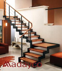 Delicieux Steel Wood Staircase Prefab Stairs