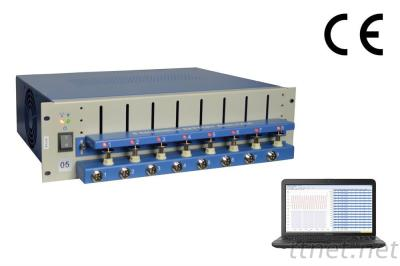 8 Channel Battery Analyzer (0.005 -1 MA, Upto 5V) W/ Adjustable Cell Holders Laptop & Software - BST8-WA