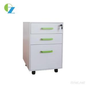 3 Drawer Mobile Pedestal With Handles