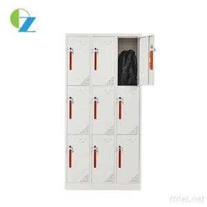 Long Using Time 9 Door Steel Locker