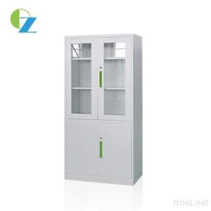 New Type Widely Used Glass And Steel Swing Doors Cupboard