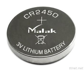 3V high capacity CR2450 lithium button cell battery