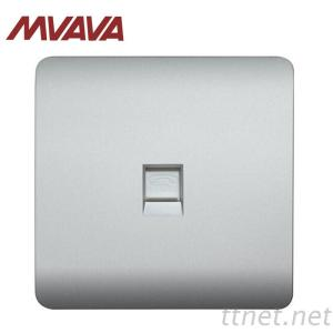 MVAVA Factory Sale Electrical Tel RJ11 Wall Socket Home Usage PC Panel