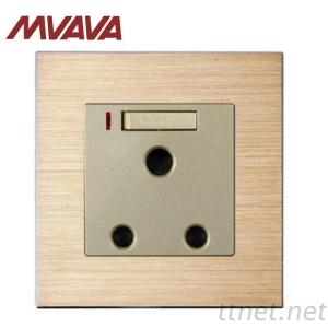 Mvava Luxury Satin Aluminium Series 15A South Africa Electrical Wall Socket With LED