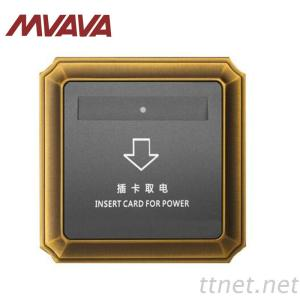 MVAVA Hotel Insert Card Wall Switch For Room Luxury Top Grade Bronzed Panel