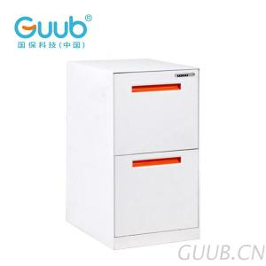 Steel Office Furniture With High-Tech Electronic Lock 2 Drawer Cabinet