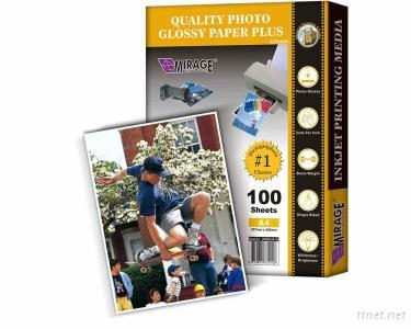 Quality Glossy Photo Paper Plus A4 100 Sheets