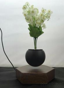 Magnetic floating levitate bottom air bonsai planter potted