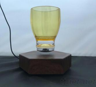 Magnetic floating levitate bottom water cup