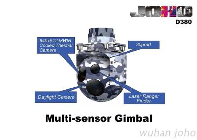 Helicopter Eo IR Gimbal with High Gyro Stabilization, Thermal Camera, TV Camera and Laser Range Finder