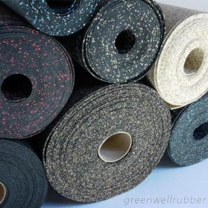 Gym Rubber Flooring In Variety Colors