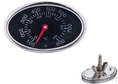 Oval Shaped Bbq Grill Thermoemter Meat Thermometer
