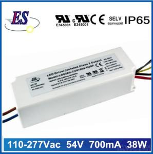 38W Constant Current LED Driver With 1-10V Dimming,UL CUL CE