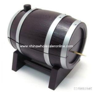 Barrel Toothpick Dispenser Automatic Toothpick Holder