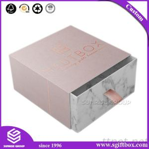 Gray White Marble Cardboard Gift Paper Packaging Drawer Box