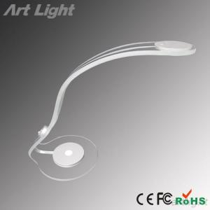 PMMA Transparent Clear Adjustable Arm Switch Control LED Table Lamp Desk Lighting