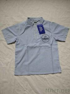Y/D Stripe Boys S/S Shirt