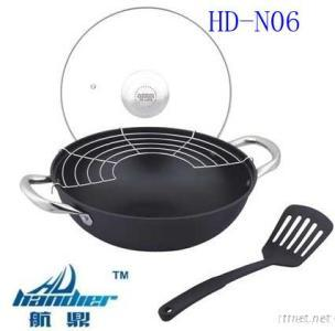 Senior Non-Stick Cast Iron Pan With Glass Lid (HD-N06)