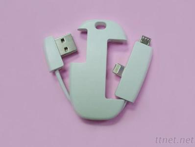 white USB AM TO MICRO TO I-PHONE 5