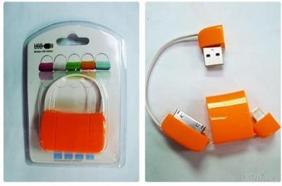 Orange USB A male & I-PHONE