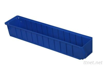 Plastic Warehousing Storage Tote Box With Clear Divider