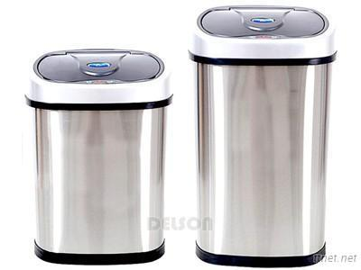 High quality stainless steel inductive trash can
