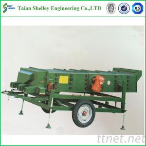Movable Vibrating Screen Grain Cleaning Machine