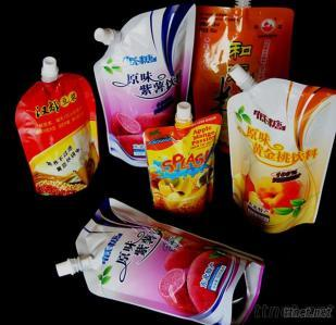 Liquid Juice Packaging, Standing Bag With Spout