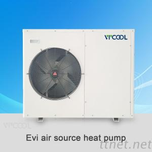 Air Source Water Heater Heat Pump Evi For Floor Heating, Air Conditioning