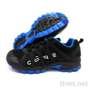 Black Synthetic Pu And Textile Upper Outdoor Shoes