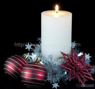 Pillar Candle, Candle, Candles, White Candle, Christmas Candle