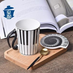 Giftgarden Coffee Mugs 3D Unique Handle Design Cool Coffee Milk Ceramic Tea Mug Cup with Guitar Handle