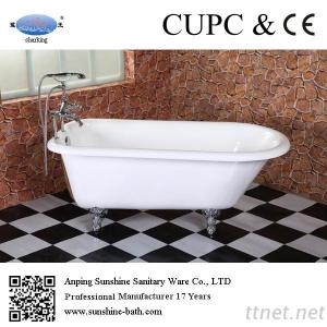 Cast Iron Double Slipper Claw Foot Tubs Roll Top Bath Tub