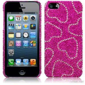 Diamante Case for iPhone 5  Love Hearts