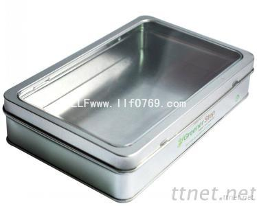 Metal Tin Box With Pvc Clear Window