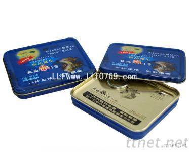 Metal Tin Or Aluminum Pill Box Easy Open Lid