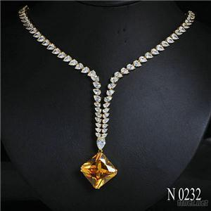 N232 American Style 925 Sterling Silver Zircon Gold Princess Jewelry