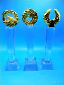 Crystal Trophy, Crystal Medal, Glass Trophy, Glass Medal, Metal Trophy, Metal Medal