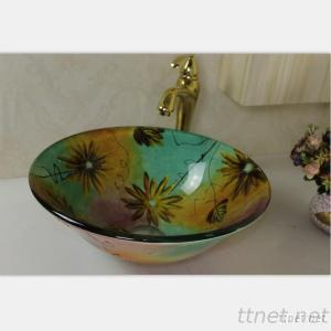 Glass Basin With Pop-Up